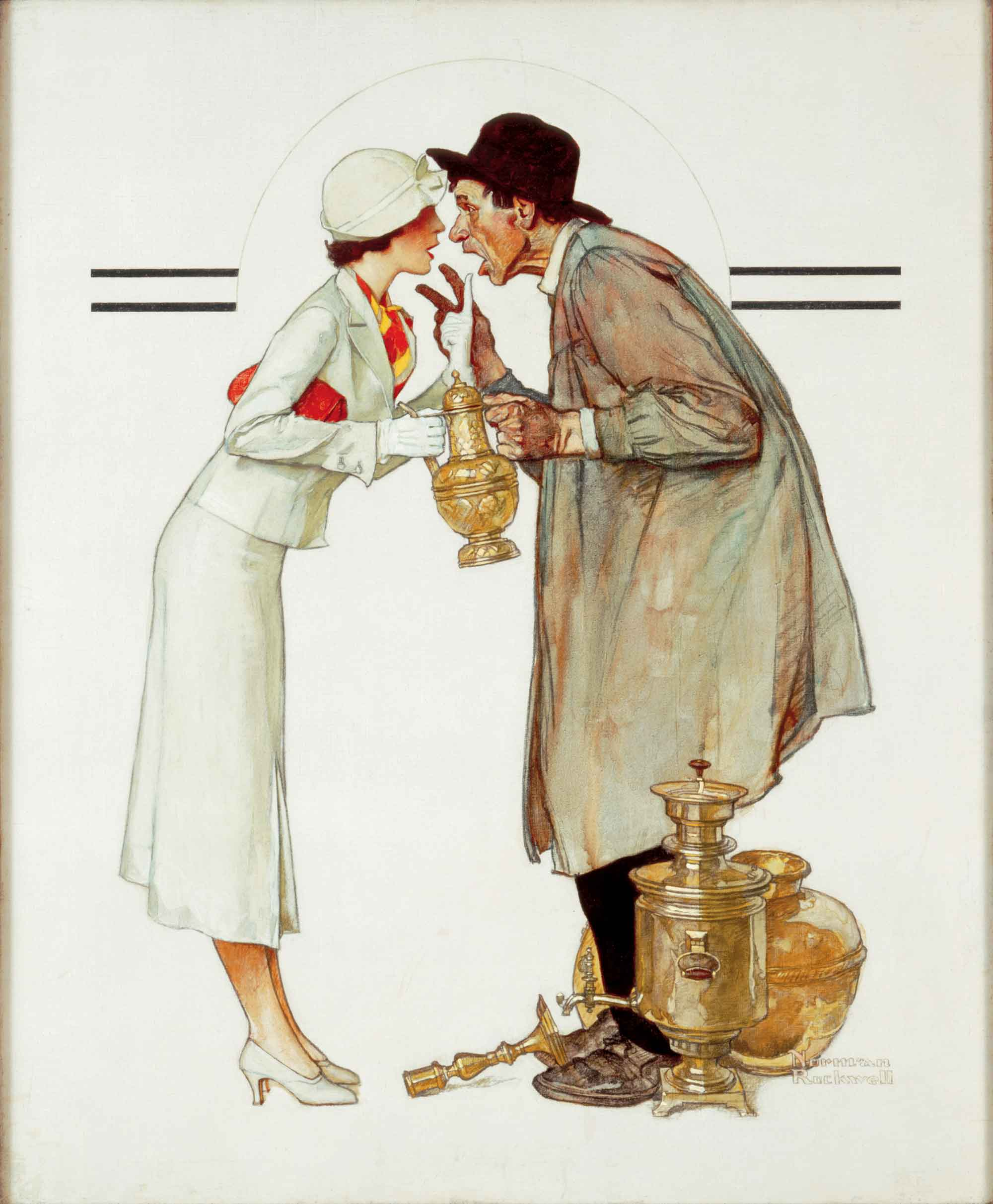 01 - Brass Merchant - Norman Rockwell