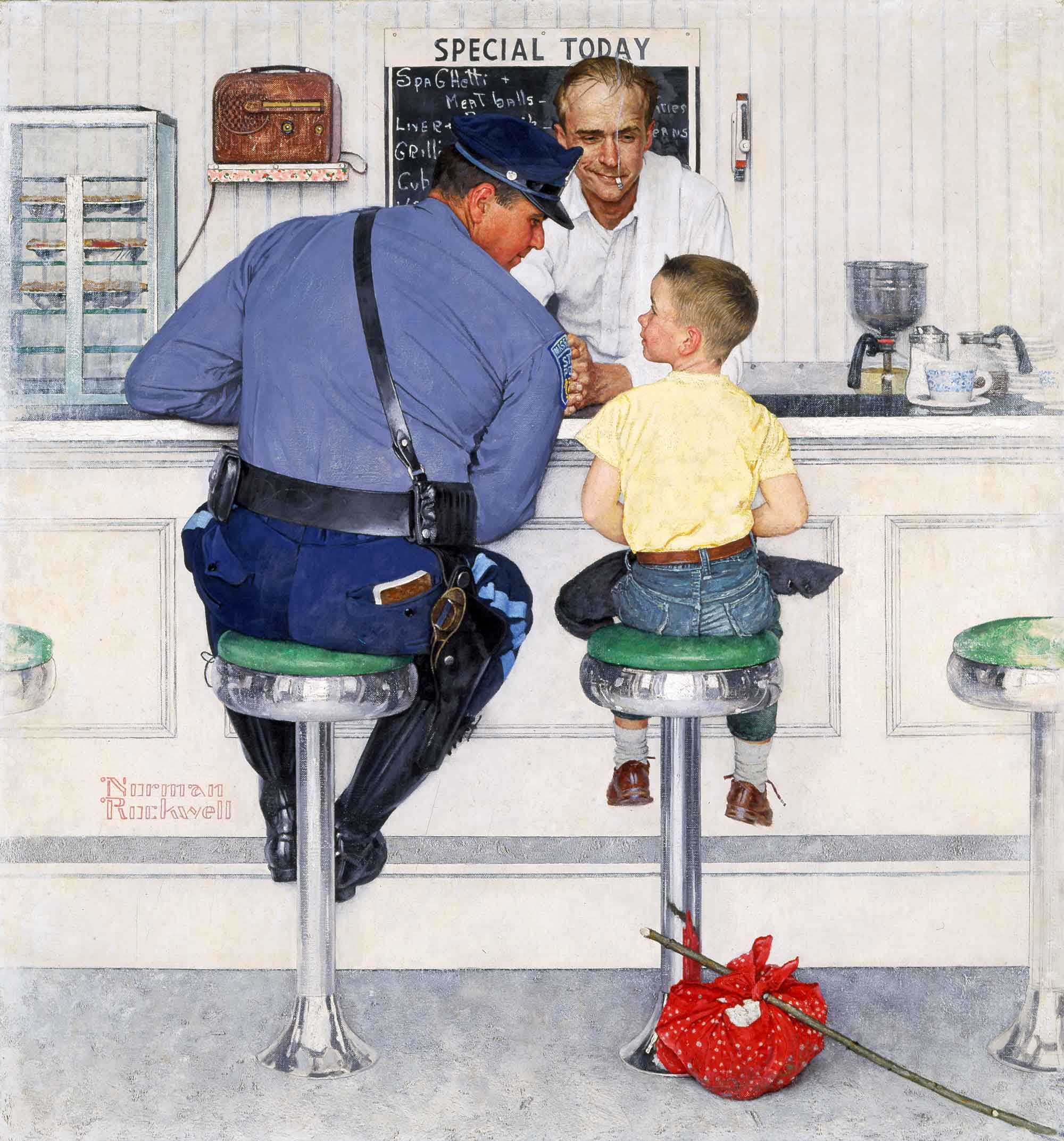 02 -The Runaway - Norman Rockwell