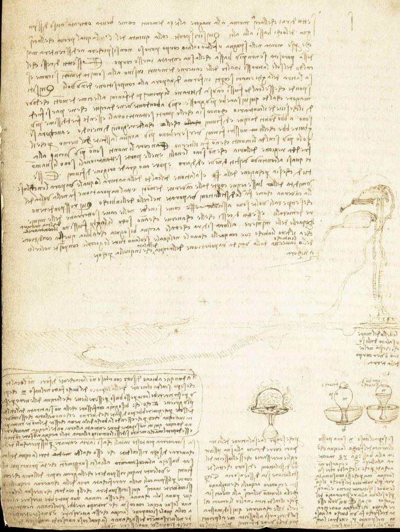 Il Codice Leicester di Leonardo da Vinci. L'Acqua Microscop