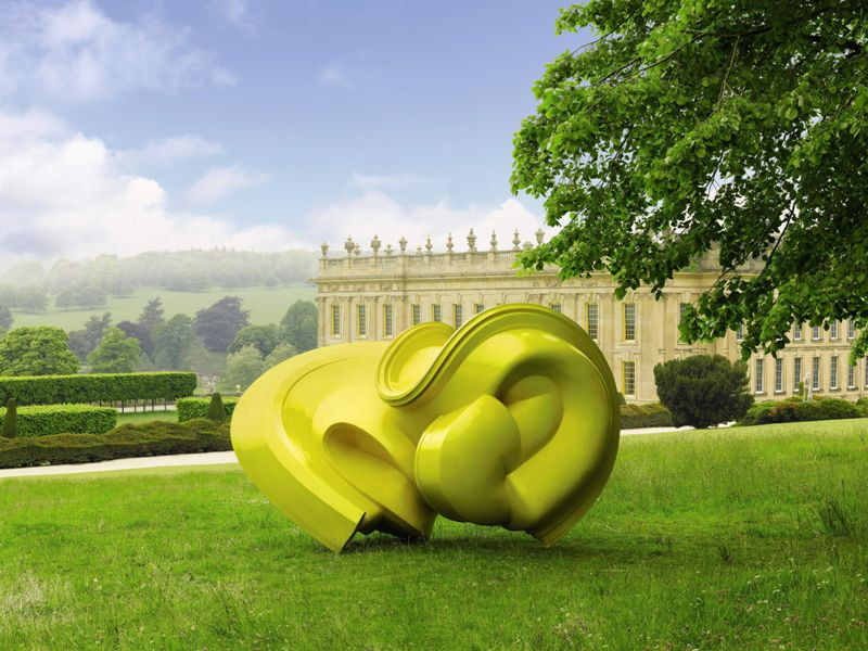 1_ Tony Cragg_ Declination_Painted bronze_2005
