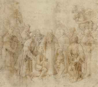 9_ raffaello_sanzio_called_raphael_saint_benedict_receiving_maurus_and_pl_d5649716h