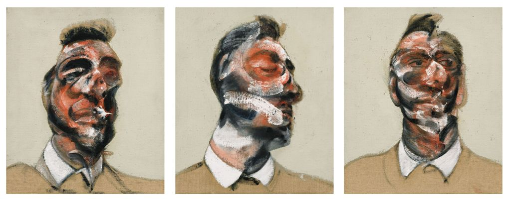 Bacon, Three Studies for Portrait of George Dyer - Copia