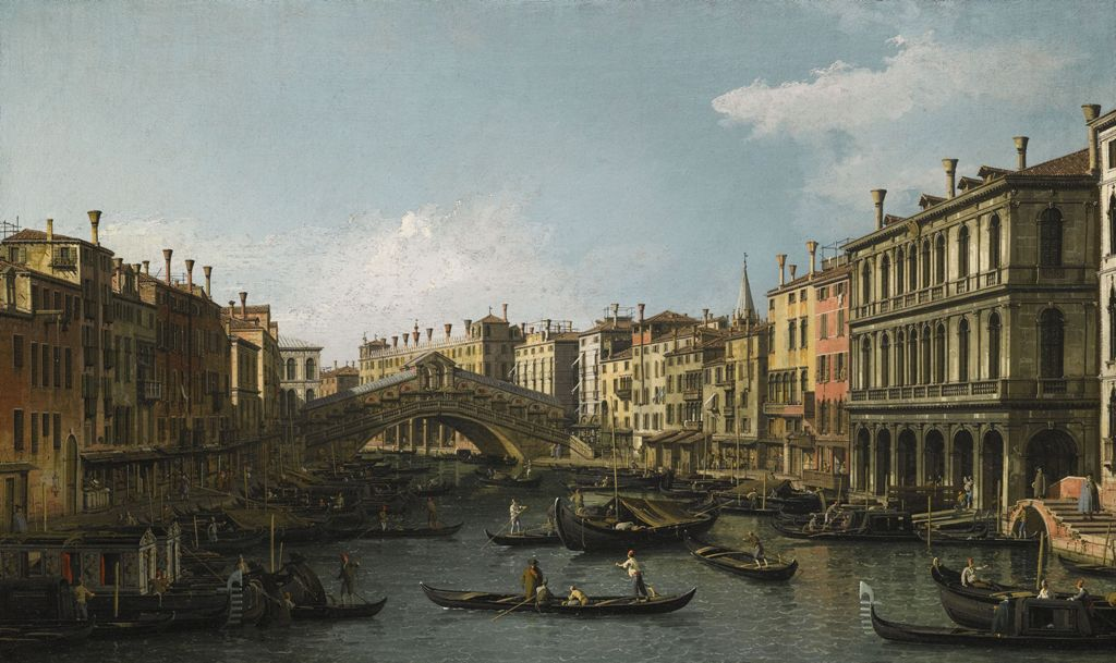 Canaletto - View of the Grand Canal & Rialto Bridge - Copia