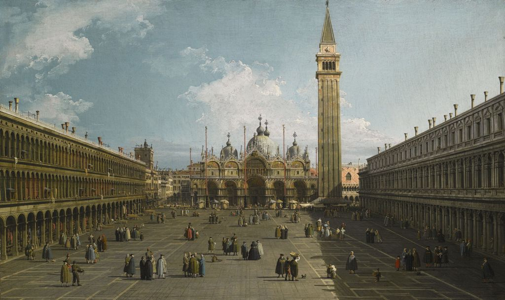 Canaletto - View of the Piazza San Marco - Copia