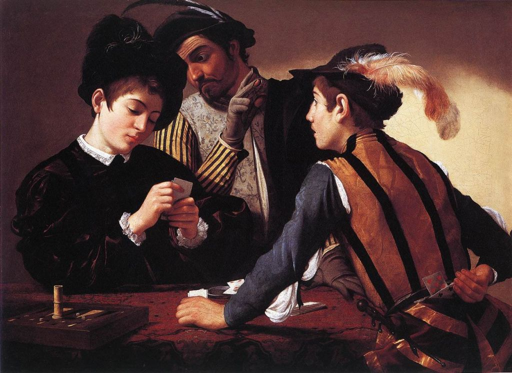 Caravaggio, I bari, Fort Worth, Kimbell Art Museum