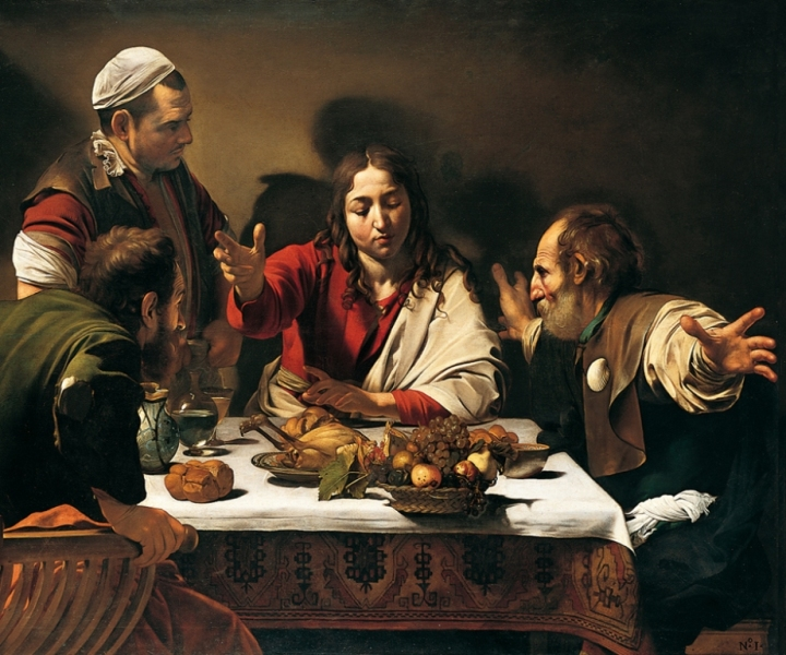 Caravaggio_Cena in Emmaus_National Gallery_Londra