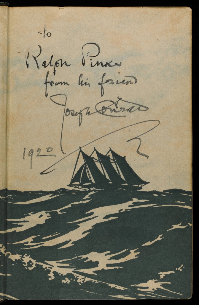 Conrad_The Rescue_1920_inscribed_to_Ralph_Pinker