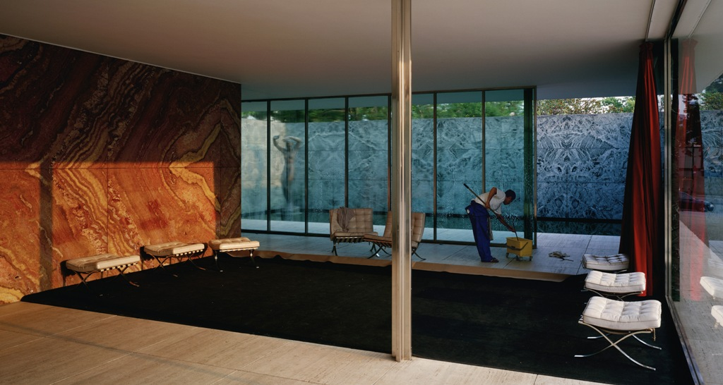JW_Morning Cleaning, Mies van der Rohe Foundation, Barcelona, 1999
