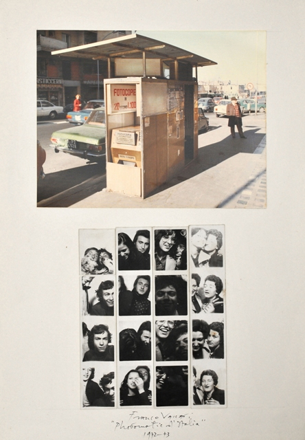 VACCARI, Photomatic d'Italia, 1972-73, collage of colour photograph and photostrips on cardboard, cm.50x35 02front (300dpi)(1)