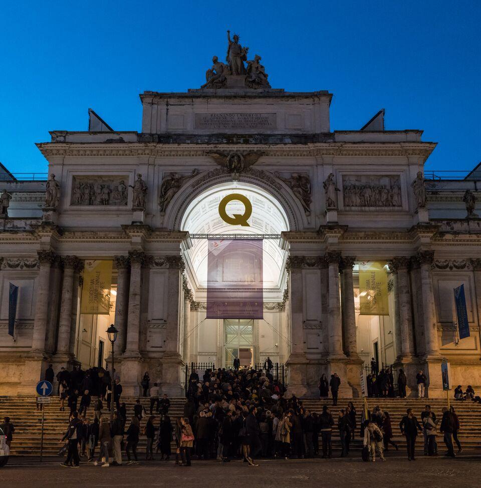 Al palazzo delle esposizioni di roma una quadriennale a sca for Mostra palazzo delle esposizioni